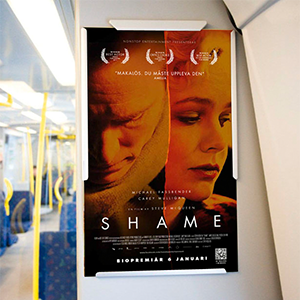 Layout of Advertising campaign for Shame