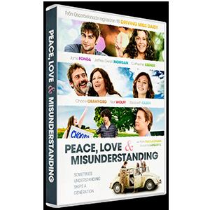 Design of film artwork Peace, Love and Misunderstanding