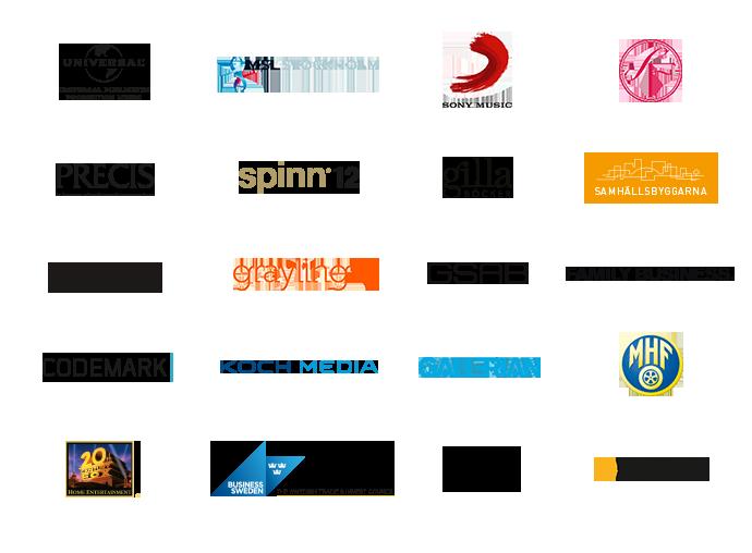 Vendela Valentin client logos